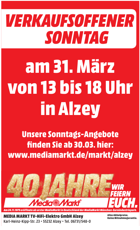 Media Markt TV-HiFi-Elektro GmbH Alzey