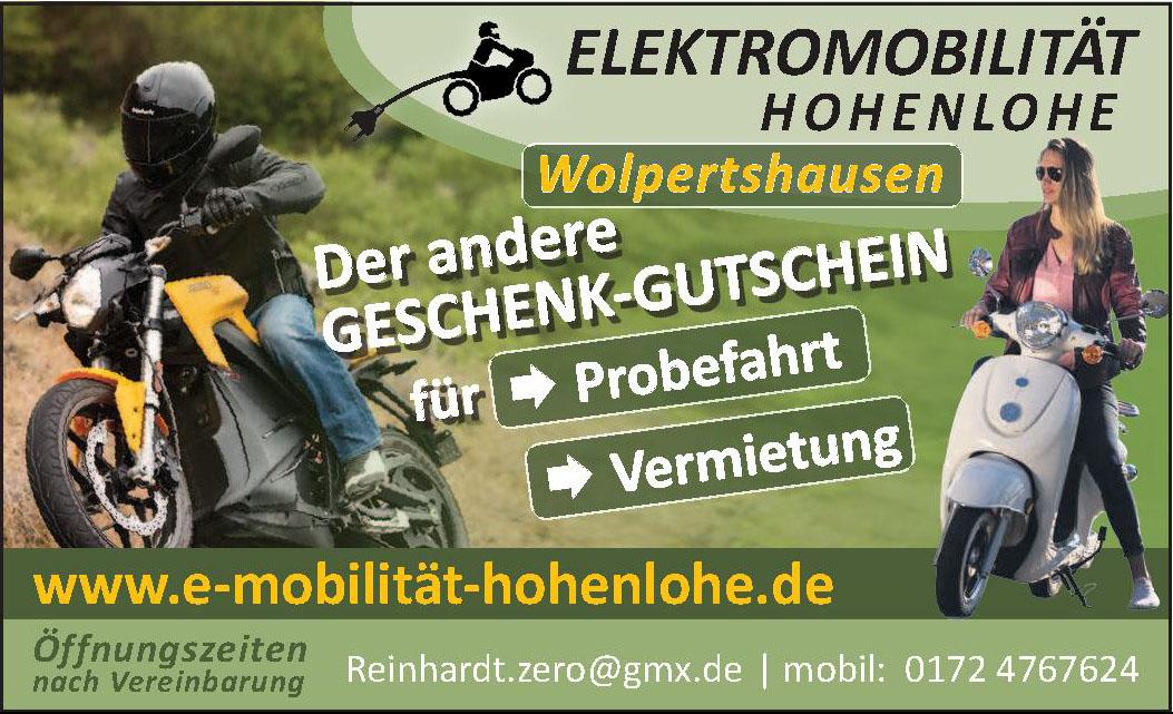 Elektromobilität Hohenlohe