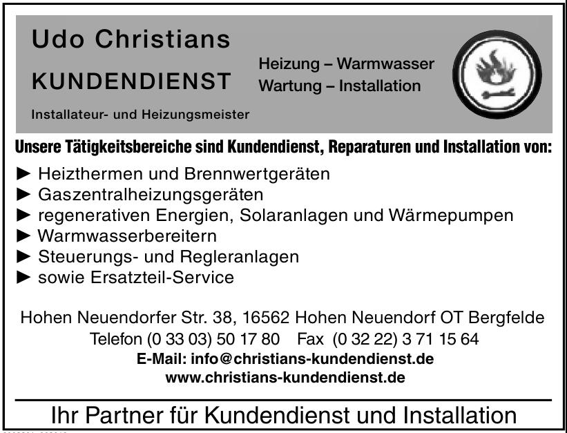 Installateur- und Heizungsmeister Udo Christians