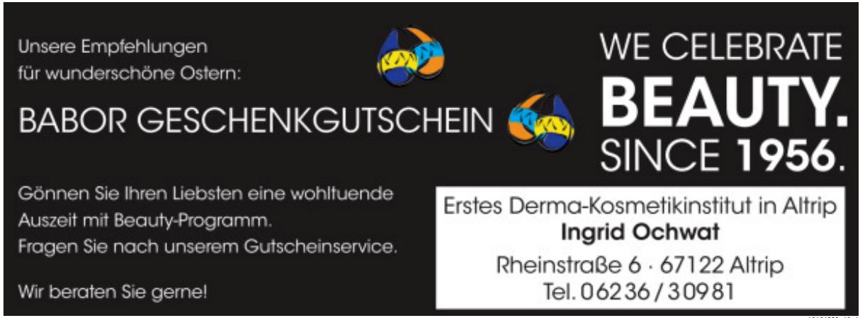 Erstes Derma-Kosmetikinstitut in Altrip