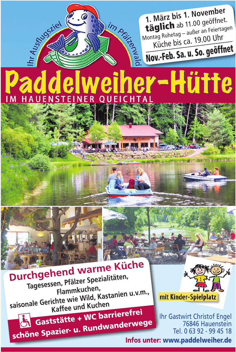 Paddelweiher-Hütte