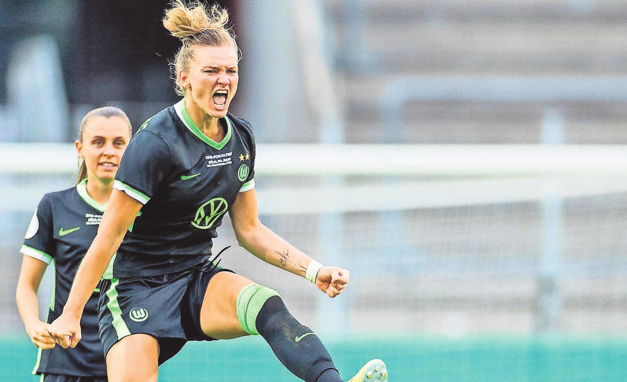 Sie wäre fast zur tragischen Figur geworden: Als einzige VfL-Spielerin scheiterte die erfahrene Alexandra Popp im DFB-Pokalfinale im Elfmeterschießen gegen die SGS Essen.