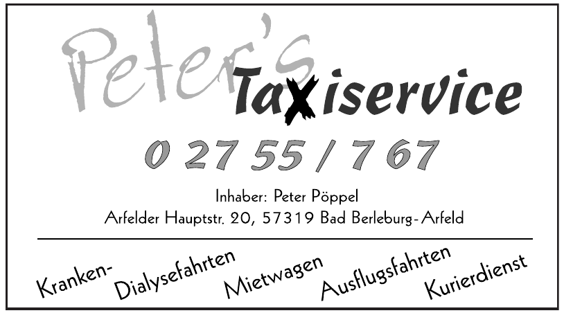 Peter´s Taxiservice