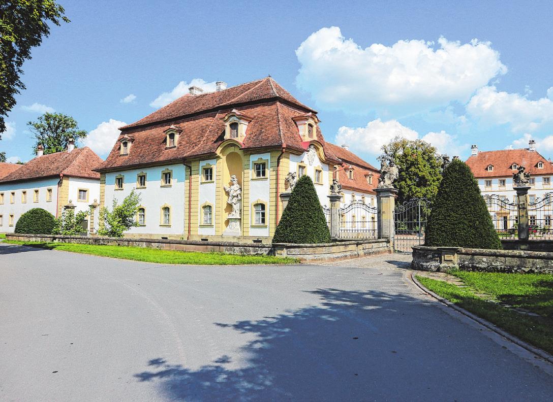 Die Schlossanlage von Ullstadt.