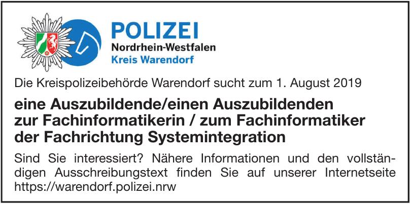 Polizei Nordheim-Westfalen Kreis Warendorf