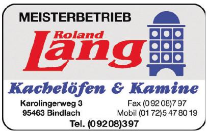 Meisterbetrieb Roland Lang Kachelöfen & Kamine