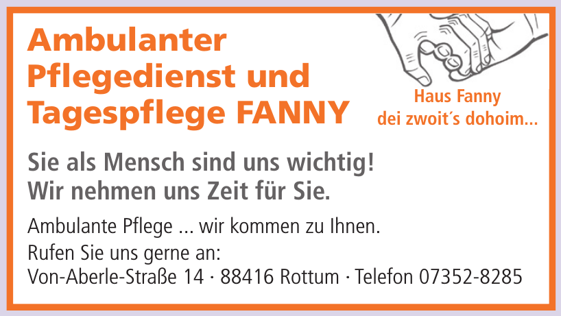 Ambulanter Pflegedienst und Tagespflege FANNY