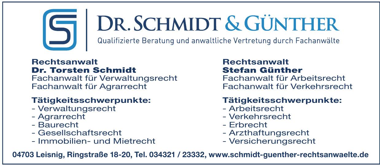 Rechtsanwälte Dr. Schmidt & Günther