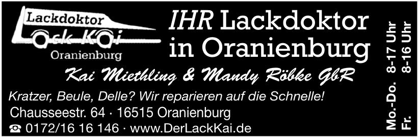 Lackdoktor Oranienburg