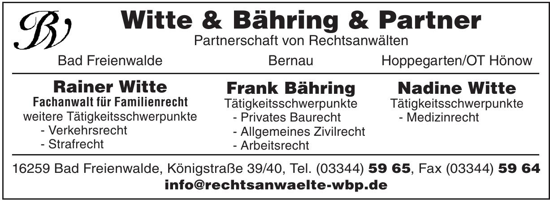 Witte & Bähring & Partner