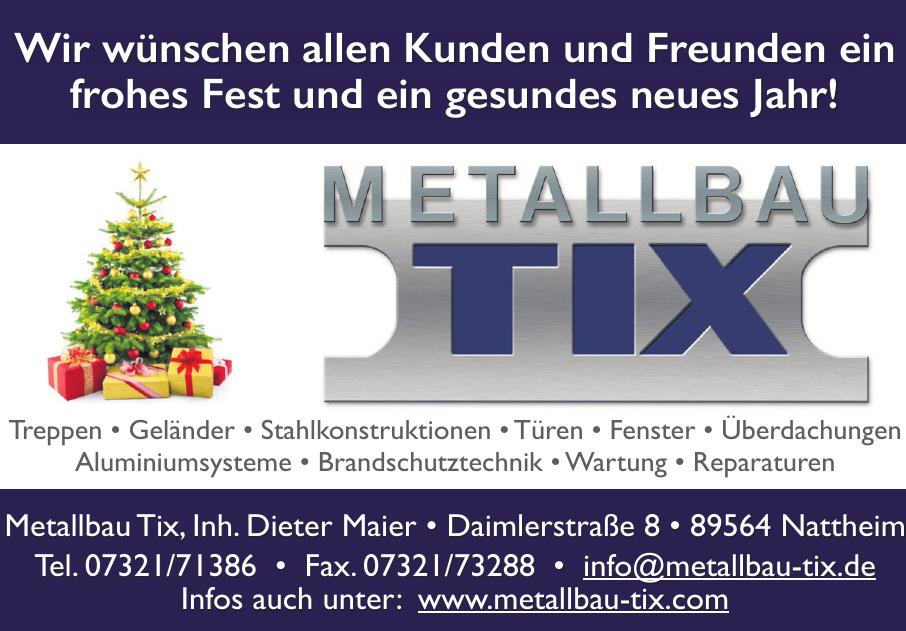Firma Metallbau Tix