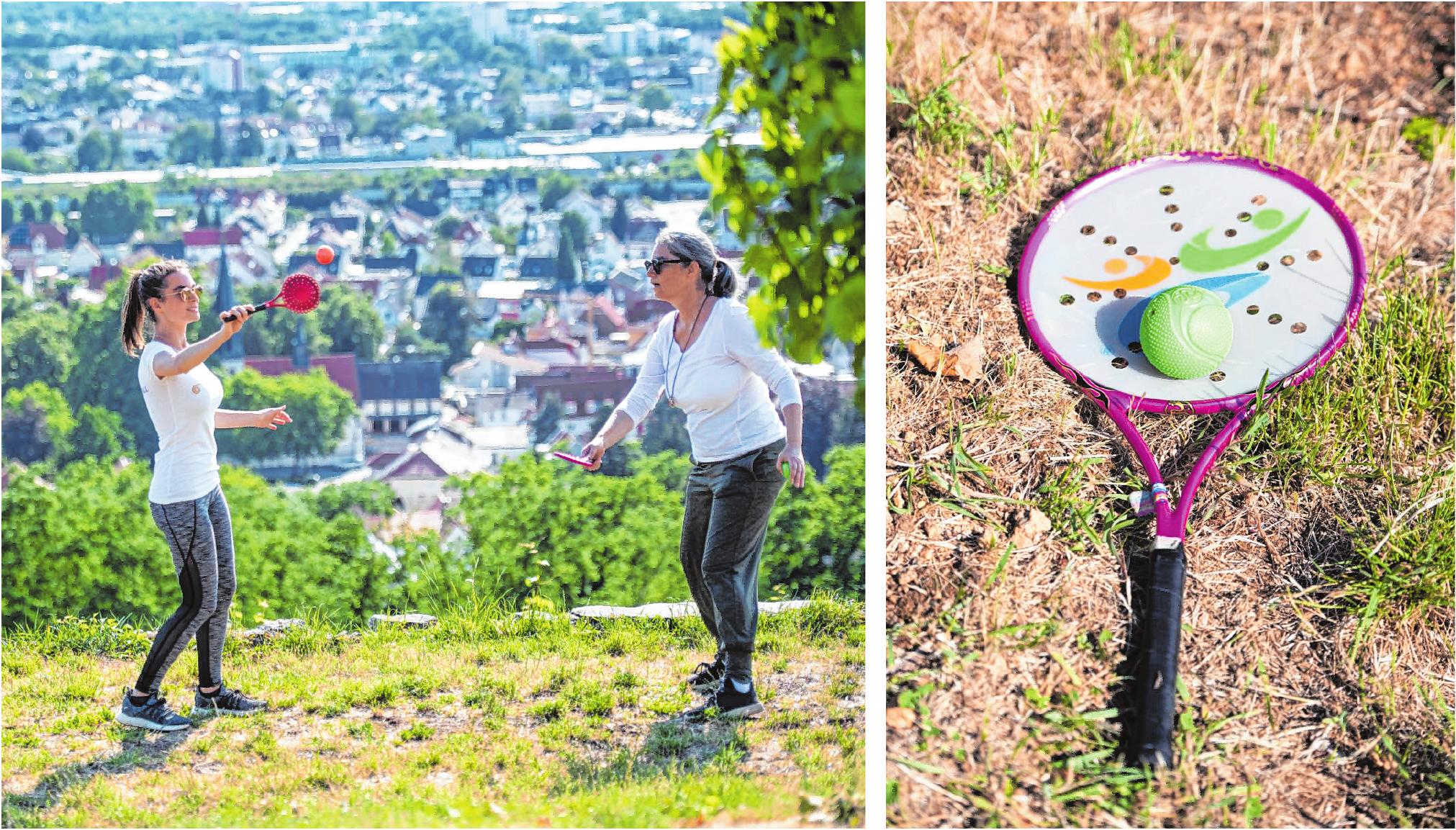 Bailong Ball zeichnet sich durch fließend-dynamische Bewegungsabläufe aus. Man kann den Sport alleine, aber auch im Duo ausüben. Bilder: Thomas Neu