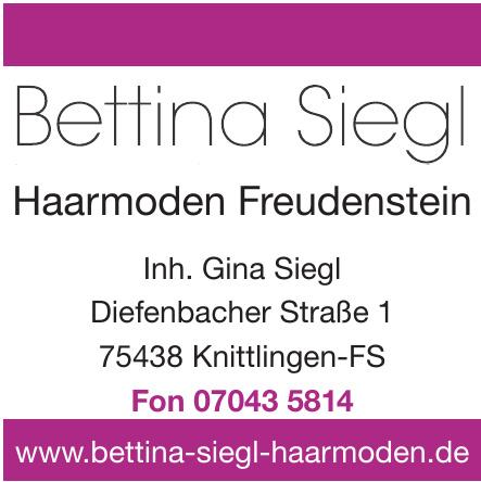 Bettina Siegl - Haarmoden Freudenstein