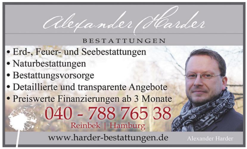 Alexander Harder Bestattungen