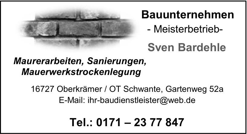 Bauunternehmen - Meisterbetrieb- Sven Bardehle