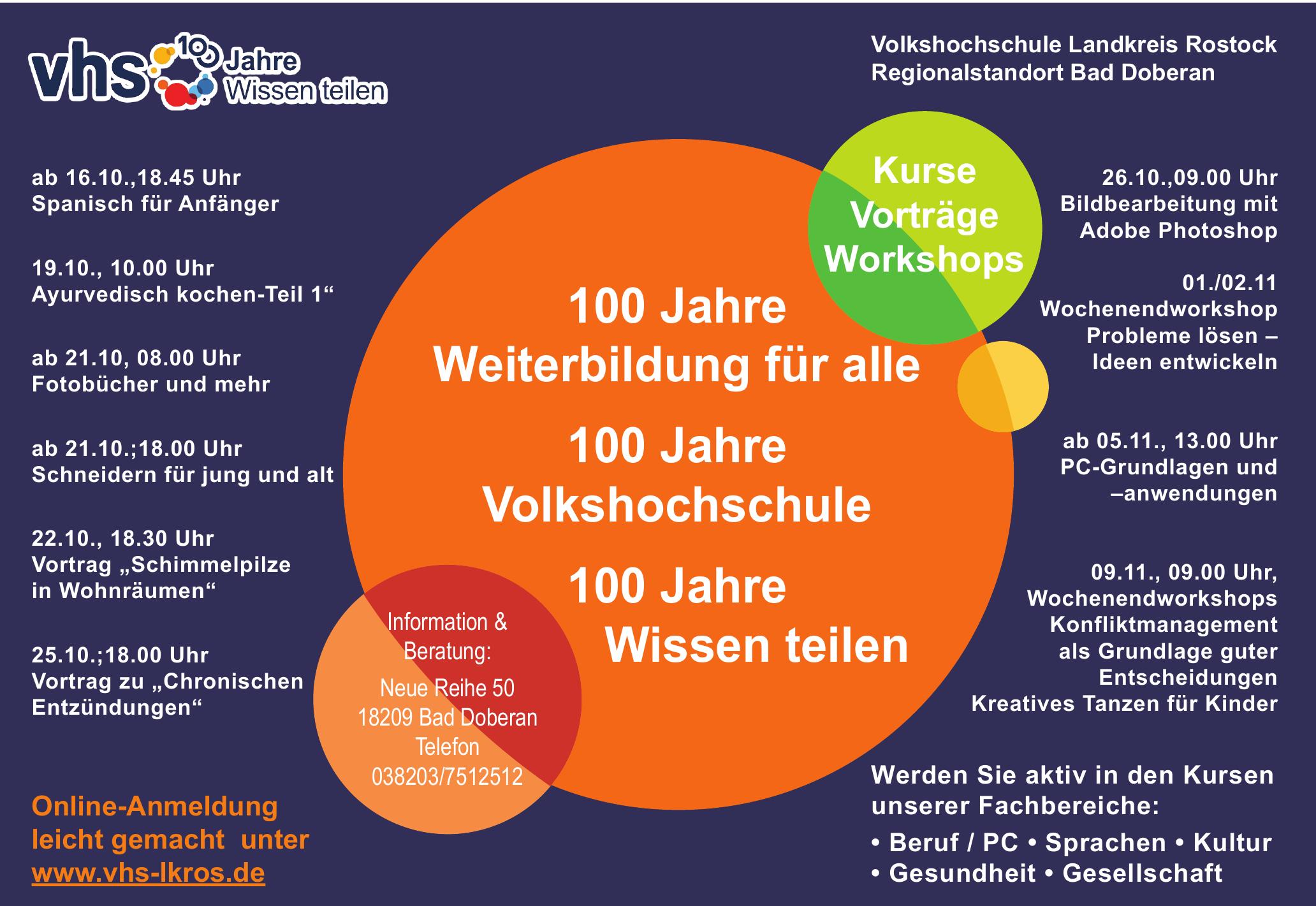 Volkshochschule des Landkreises Rostock-Regionalstandort Bad Doberan