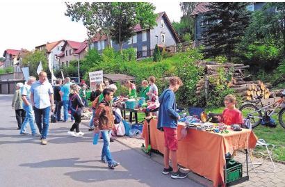 Flohmarkt. Fotos: Archiv Stadt