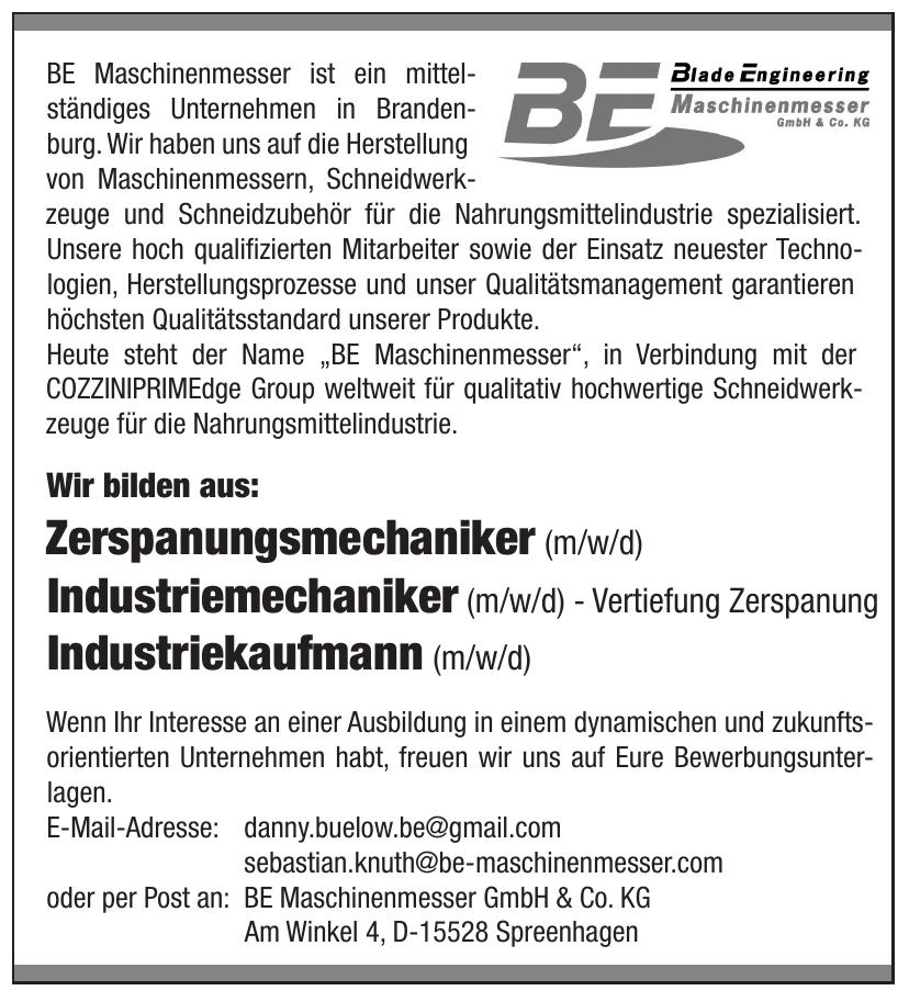 BE Maschinenmesser GmbH & Co. KG