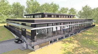So wird die neue Hauptverwaltung nach Fertigstellung im August 2019 der Seniorenwohnanlage Rosenhof in Ahrensburg nach der Fertigstellung aussehen Foto: Rosenhof