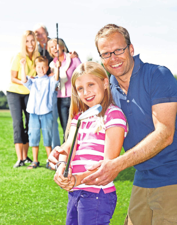 Golfanlagen laden zum Ausprobieren ein. Foto: OZ Archiv