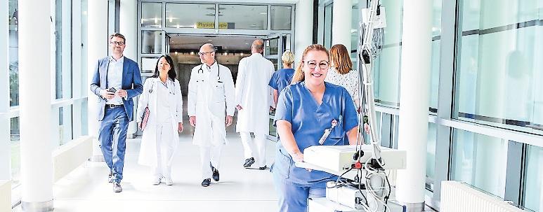 """""""Spitzenmedizin menschlich"""": bei der BG.FOTO: BG KLINIK"""