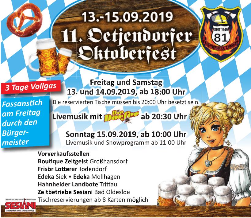 11. Detjendorfer Oktoberfest