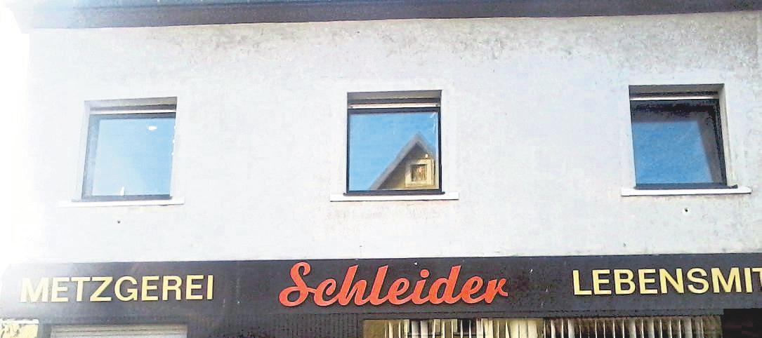 Das Gebäude der alten Metzgerei Schleider vor dem Umbau.