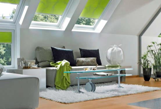 Ein separater Sonnenschutz hilft im Sommer und sollte beim Fensterkauf gleich mit eingeplant werden .Fotos: Semcoglas Holding GmbH/VFF/dpa-tmn, Velux/VFF/dpa-tmn