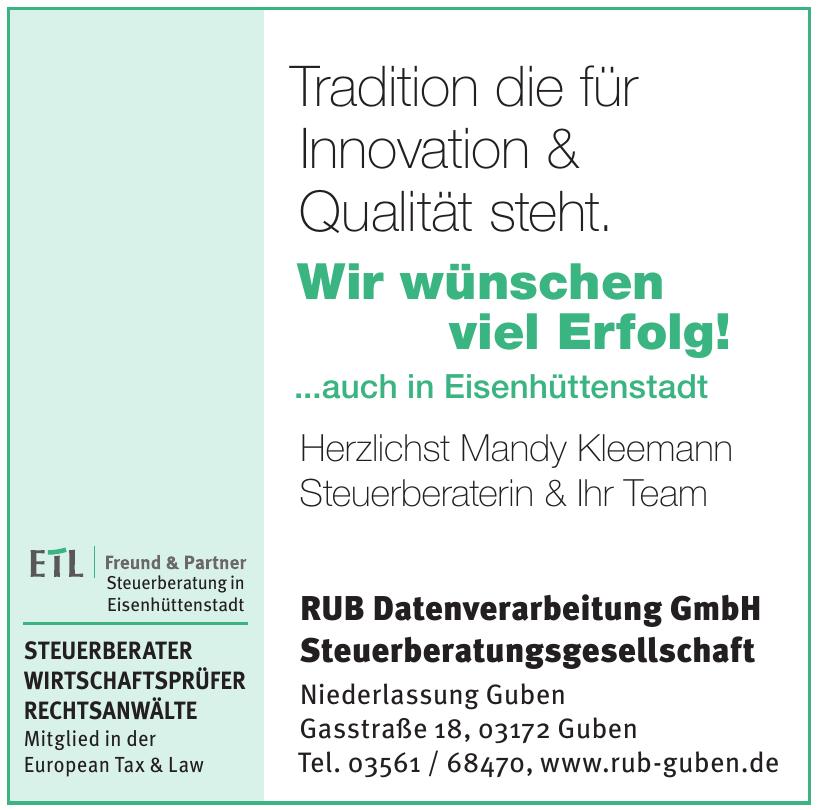 RUB Datenverarbeitung GmbH Steuerberatungsgesellschaft