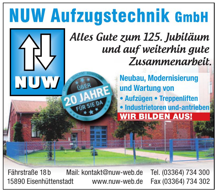 NUW Aufzugstechnik GmbH