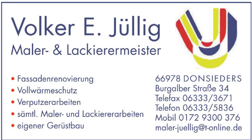 Volker Jüllig Malerbetrieb