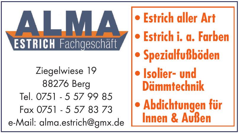 Alma Estrich Fachgeschäft