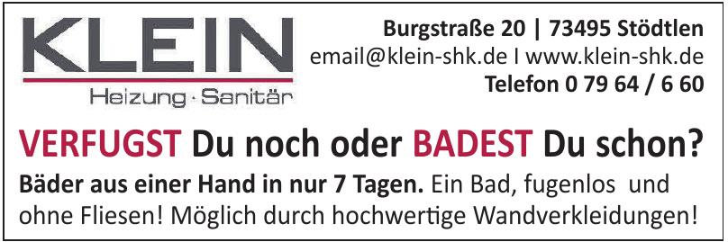 KLEIN GmbH Heizung - Sanitär