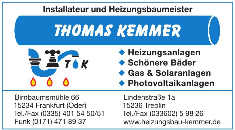 Installateur und Heizungsbaumeister Thomas Kemmer