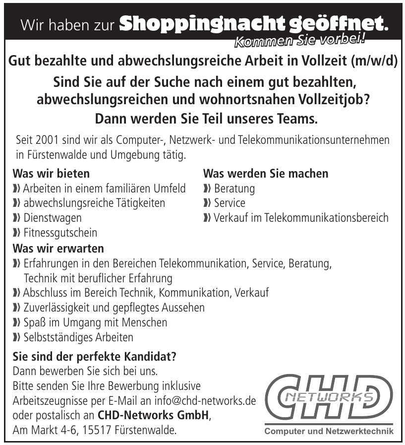 CHD-Networks GmbH Computer und Netzwerktechnik