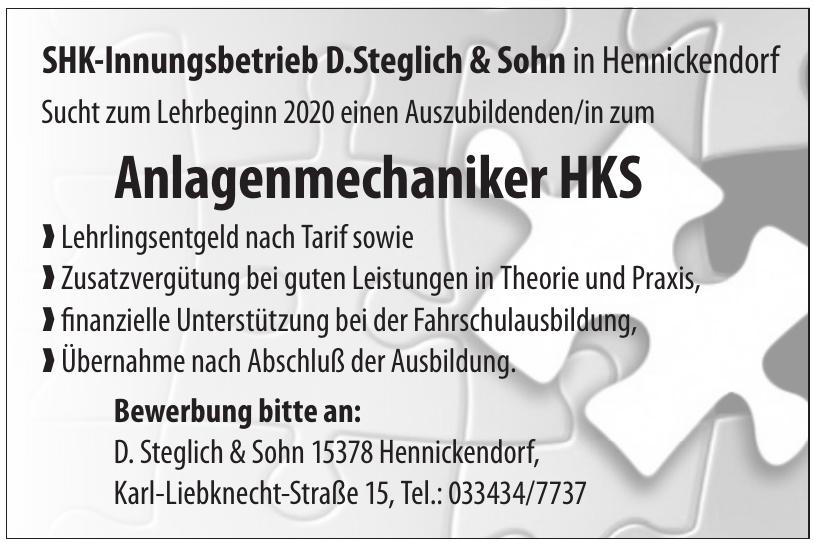 SHK-Innungsbetrieb D.Steglich & Sohn