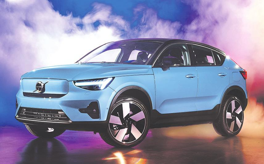 Die Anschaffung von vollelektrischen Autos wie etwa den neuen Volvo C40 Recharge wird vom Bund erheblich gefördert