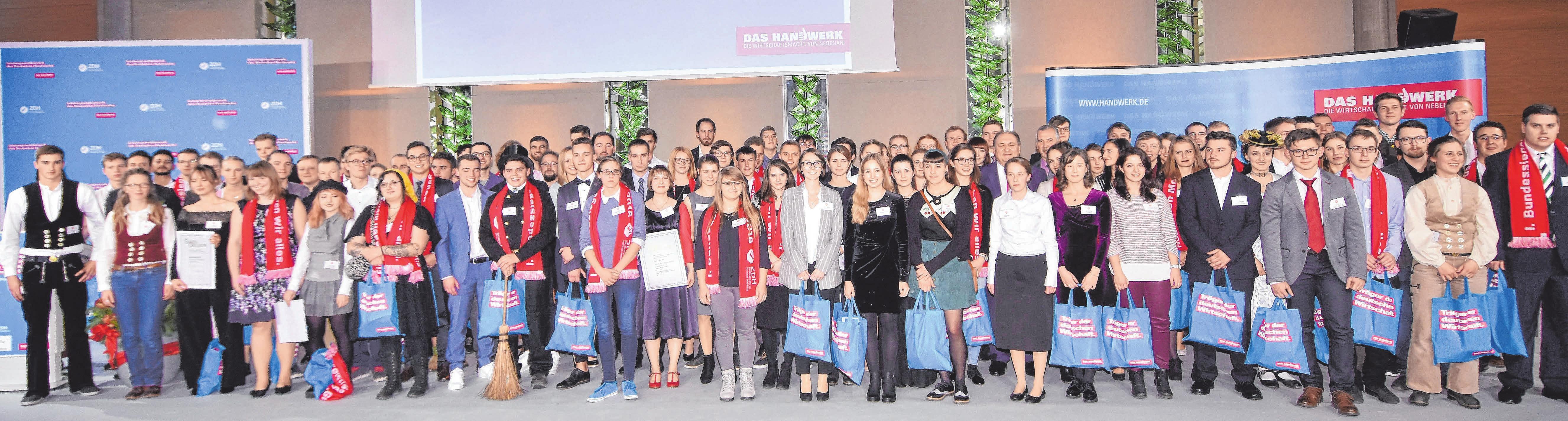 Die nächste Generation – unter diesem Titel fand der diesjährige Leistungswettbewerb des Deutschen Handwerks statt. FOTO: ZDH/BILDSCHÖN