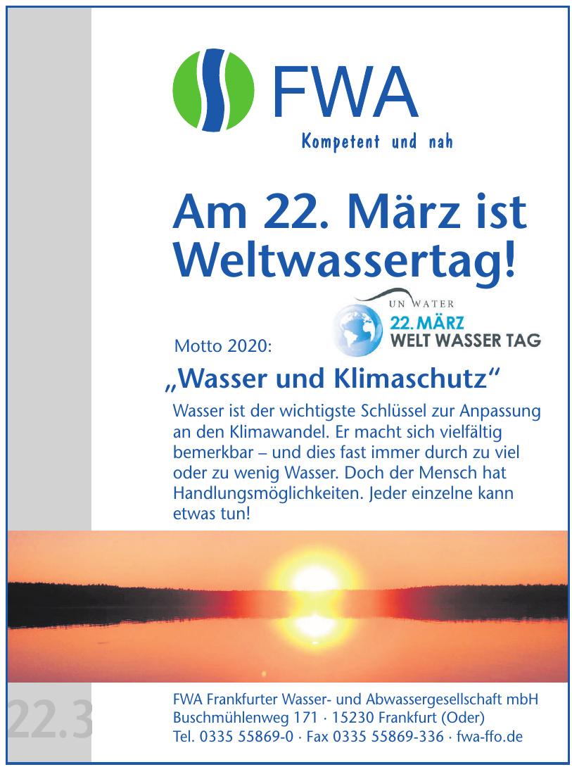 FWA Frankfurter Wasser- und Abwassergesellschaft mbH