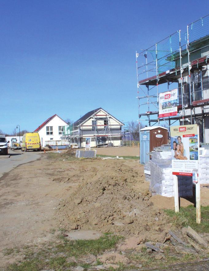 Wachstum in Bakede: Hier entstehen viele Neubauten.