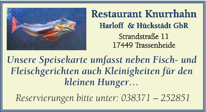 Restaurant Knurrhahn - Harloff & Hückstädt GbR