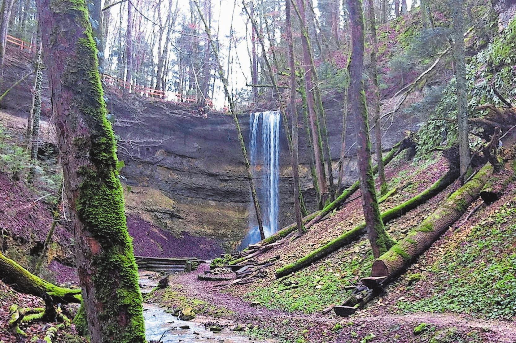 So sieht es normalerweise am Wasserfall Giessen aus, wenn es genug Wasser hat. Bild: Baselland Tourismus