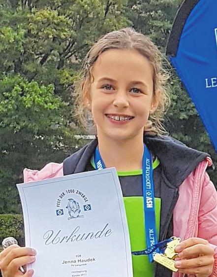 Jenna Haudek, Leichtathletik Mehrkampf: 1. Platz Nachwuchs-NRW-Mehrkampfmeisterschaften, 2. Platz Landesmeisterschaft NRW, 3. Platz westfälische Bestenliste