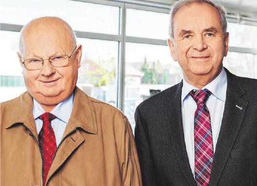 Hugo Kloos und Herbert Mayerhaben das BMW-Autohaus 1975 inLeutkirch gegründet. Foto: oh