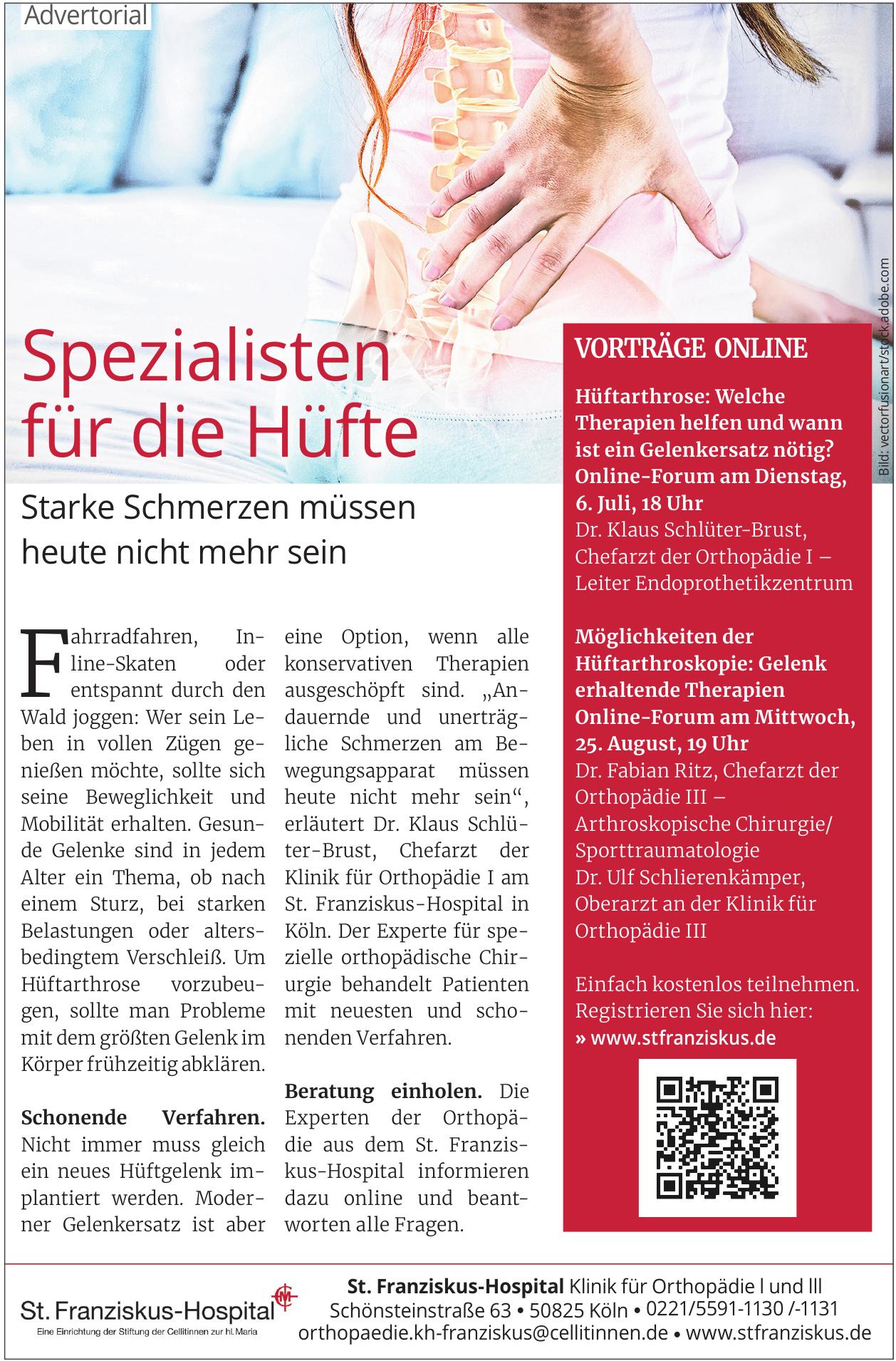 St. Franziskus-Hospital - Klinik für Orthopädie l und lll