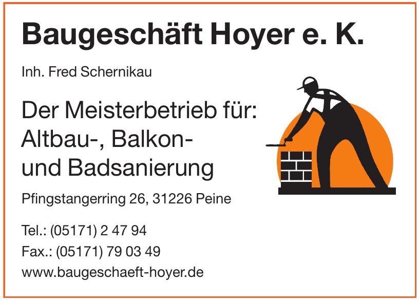 Baugeschäft Hoyer e. K.