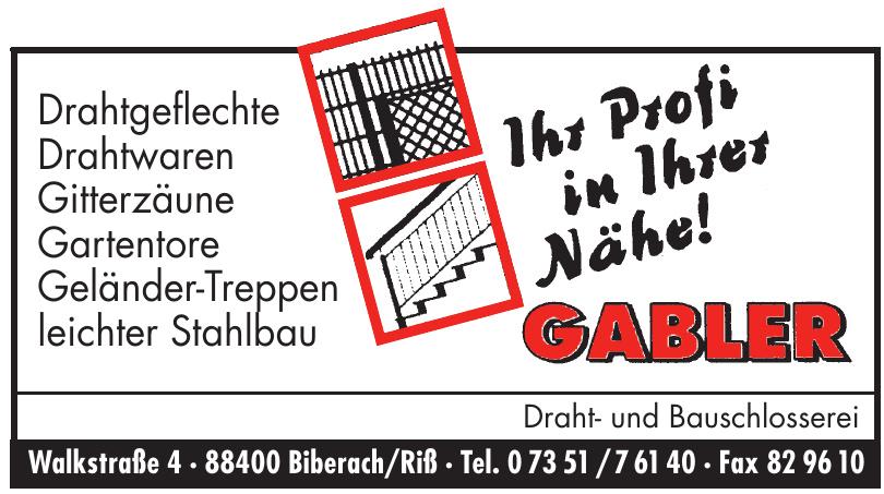 Gabler Draht- und Bauschlosserei
