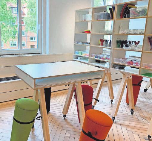 Viele der Möbel sind mobil und lassen sich nach Wunsch verschieben.