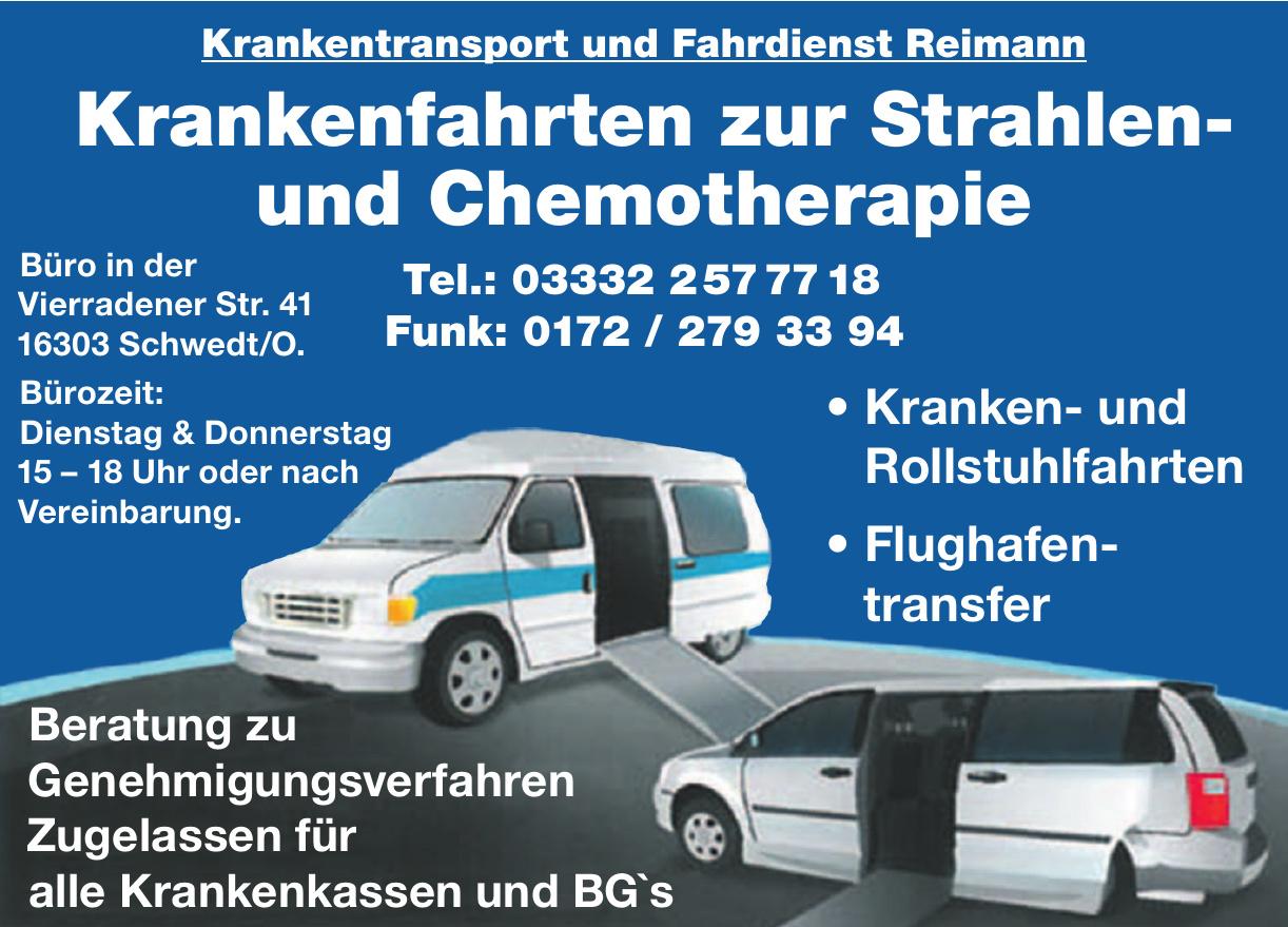 Krankenfahrten zur Strahlen- und Chemotherapie