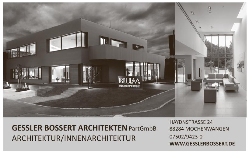 Gessler Bossert Architekten PartGmbB